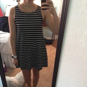Nymphe b&w striped dress